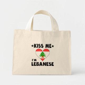 Kiss Me I'm Lebanese Mini Tote Bag