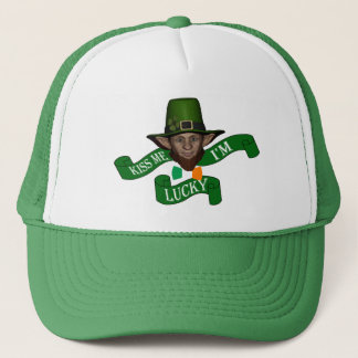 Kiss me I'm lucky St Patrick's day Trucker Hat