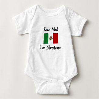Kiss Me! I'm Mexican Baby Bodysuit
