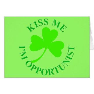 KISS ME IM OPPORTUNIST IRISHTSHIRT MUG CARD
