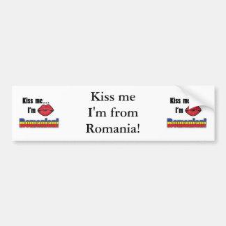 Kiss Me I'm Romanian Bumper Sticker