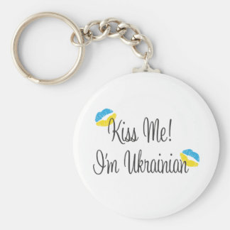 Kiss Me! I'm Ukrainian Key Chains