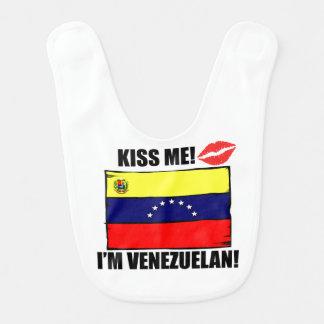 Kiss Me I'm Venezuelan Bib