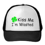 Kiss Me Im Wasted St Patricks Day Mesh Hat