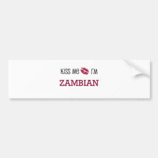 Kiss Me I'm ZAMBIAN Car Bumper Sticker