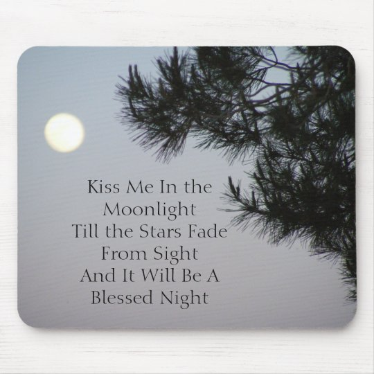 Kiss Me In the Moonlight Mouse Mat