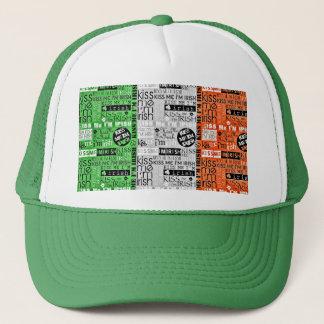 Kiss Me Irish Flag Trucker Hat
