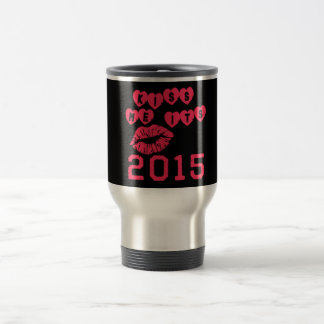 Kiss Me It's 2015 15 Oz Stainless Steel Travel Mug