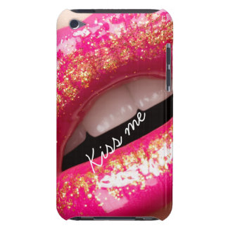 kiss me love lips lipstick background iPod Case-Mate case