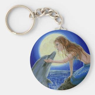 Kiss Me Mermaid & Dolphin Fantasy keychain