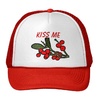 Kiss Me Mistletoe Hat