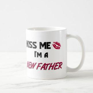Kiss Me New Father Basic White Mug