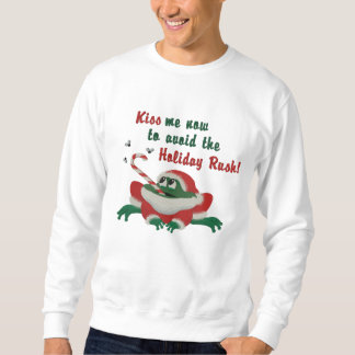 Kiss Me Now Frog Embroidered Sweatshirt