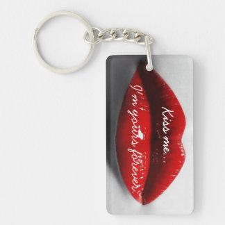 Kiss Me... Rectangle (single-sided) Keychain