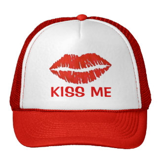 Kiss Me Red Lipstick Lips Love Valentine's Day Hat