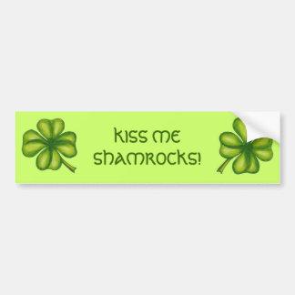 Kiss Me Shamrocks Bumper Sticker