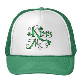 KISS ME SHAMROCKS by SHARON SHARPE Trucker Hat