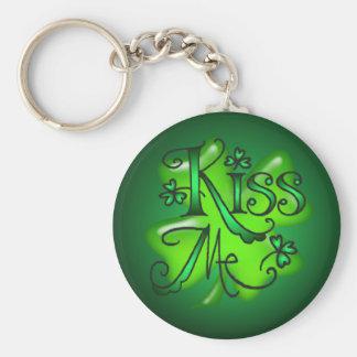 KISS ME SHAMROCKS by SHARON SHARPE Key Chain