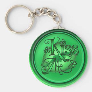 KISS ME SHAMROCKS by SHARON SHARPE Key Chains