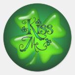 KISS ME SHAMROCKS by SHARON SHARPE Stickers