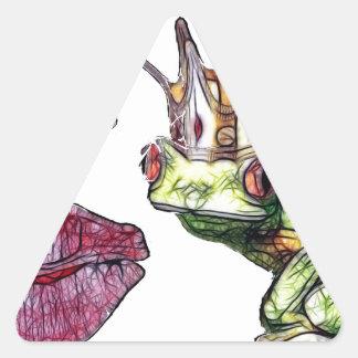Kiss Me Triangle Sticker