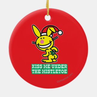 Kiss Me Under The Mistletoe Christmas Ornament