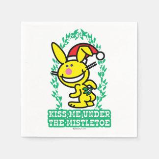 Kiss Me Under The Mistletoe Disposable Napkin