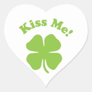 Kiss Me White Heart Sticker