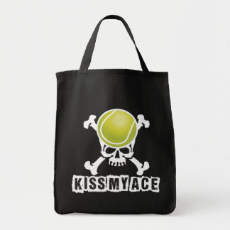 Kiss My Ace Grocery Tote Bag