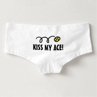 Kiss my ace womens tennis boyshorts underwear