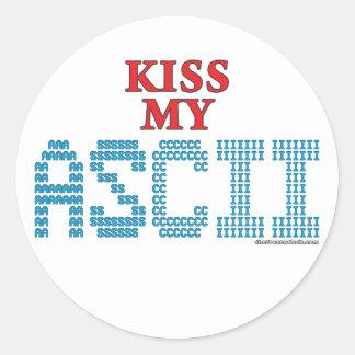 Kiss My ASCII Stickers