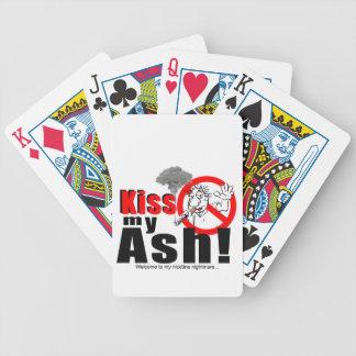 KISS MY ASH_LOGO_1 BICYCLE PLAYING CARDS
