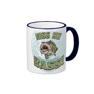 Kiss My Bass Big Mouth Fish Gear Coffee Mugs