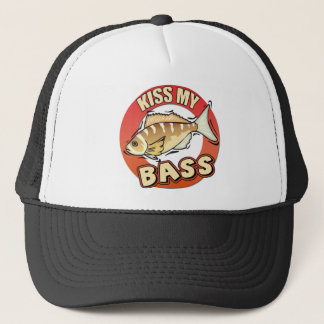 Kiss My Bass Fishing T-shirts Gifts Trucker Hat