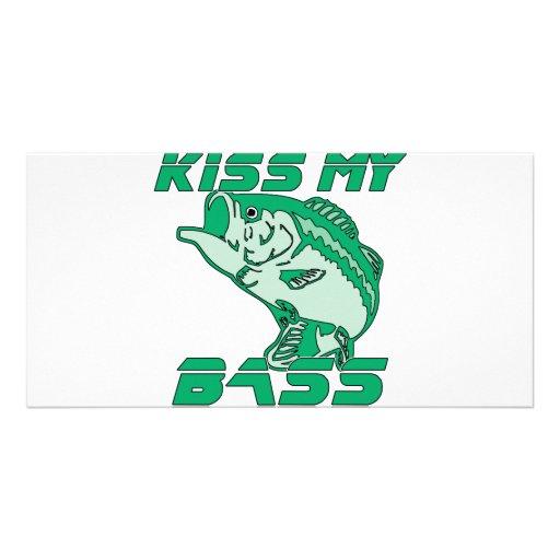 Kiss My Bass Custom Photo Card