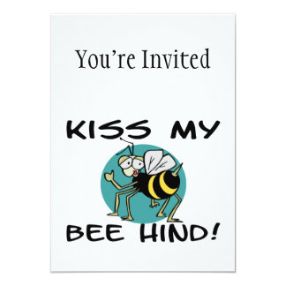 Kiss My Bee Hind 13 Cm X 18 Cm Invitation Card