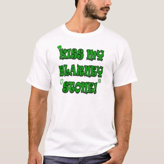 Kiss My Blarney Stone Irish Humour Shirt