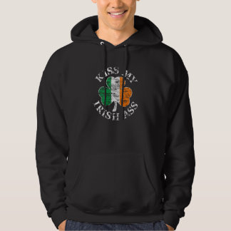 Kiss My Irish Ass Shamrock Hoodie