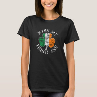 Kiss My Irish Ass Shamrock T-shirt
