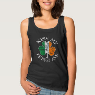 Kiss My Irish Ass Shamrock Tank Top