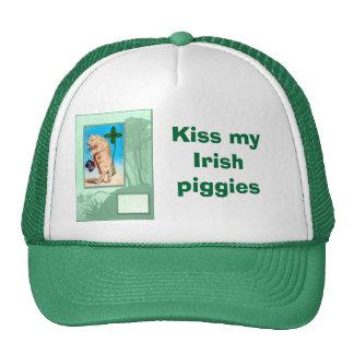 Kiss my Irish piggies Trucker Hat