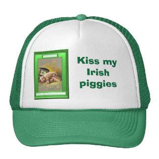 Kiss my Irish  piggies Trucker Hats