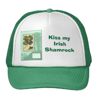 Kiss my Irish  Shamrock Cap