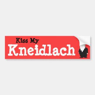 "Kiss my Kneidlach (""Matza Balls"") Bumper sticker"