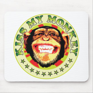 Kiss My Monkey Mouse Pad