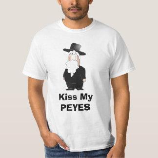 Kiss my PEYES - Funny Rabbi Shirt