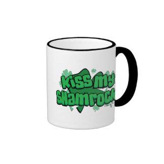 Kiss My Shamrock Ringer Mug