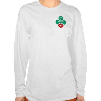 Kiss My Shamrock! St Patricks Day Lips Party Tops T-shirt