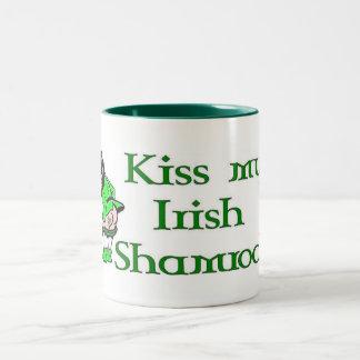Kiss My Shamrock Two-Tone Mug