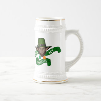 Kiss my shamrocks and leprechaun beer stein